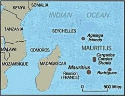 Location of Mauritius