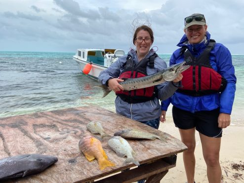 Sara Marriott and Dr. de Mutsert after fishing with traditional methods