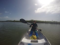 Canoeing at Gales Point